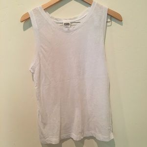 VS PINK white muscle tee